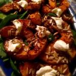 Salat med butternutsquash